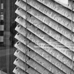 Dirty window, dirty blind.