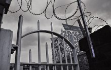 Bars and razor wire. Tourist friendly Birmingham.